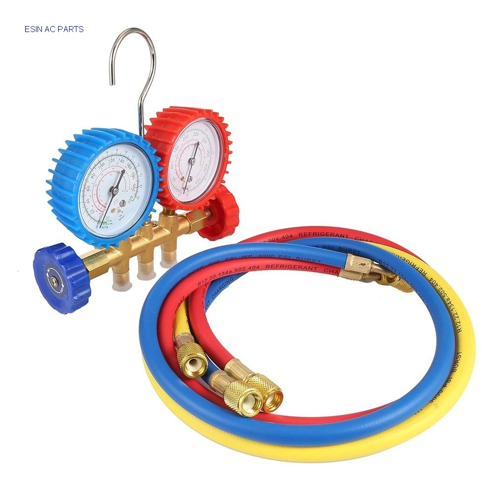 Refrigerant Tables Manifold Gauges Tool Set for using on air conditioning system