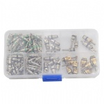 134Pcs A/C R134A Air Conditioning Refrigeration Valve Cores with Case